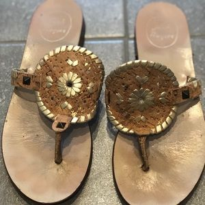 Jack Rogers Gold and Cork Georgica Sandal